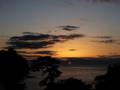 [風景・景観][空][夕焼け]2015年3月8日の夕焼け(静岡県西伊豆町西伊豆堂ヶ島温泉)