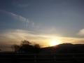 [風景・景観][空][夕焼け]道の駅 花の駅千曲川から
