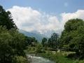 [風景・景観][空][河川]大出公園(長野県北安曇郡白馬村)