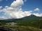 蓼科山を望む
