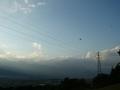[風景・景観][空][夕焼け]池田町クラフトパークより