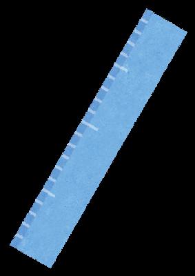青い定規のイラスト