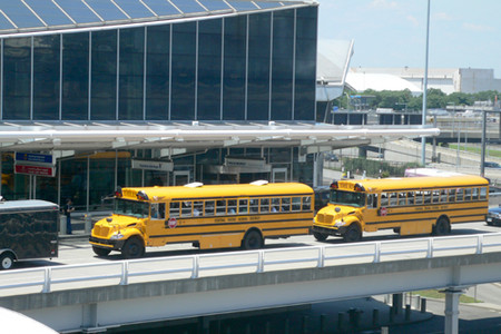 Other Students in School Buses, Waiting