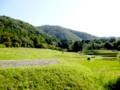 比叡山裾野に広がる田畑