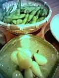 塩らっきょうと枝豆