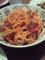 茄子とアンチョビのトマトパスタ