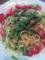 グリーンアスパラとソーセージのペペロンチーノ