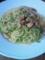 塩豚とピーマンのオイルパスタ