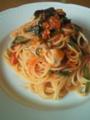 [パスタ]牡蠣とほうれん草のトマトパスタ