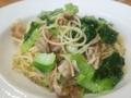 [パスタ]豚肉と青梗菜のパスタ