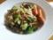 豚コマと茄子とチンゲン菜のパスタ