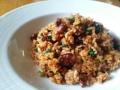 [炒飯]ホタルイカのトマト煮の炒飯