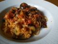 [パスタ]茄子とツナのトマトパスタ
