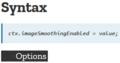 "ctx.imageSmoothingQuality = ""high"""