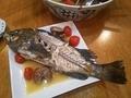 [料理]クロソイのアクアパッツァ