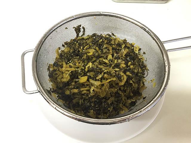 調理 高菜の油炒め1