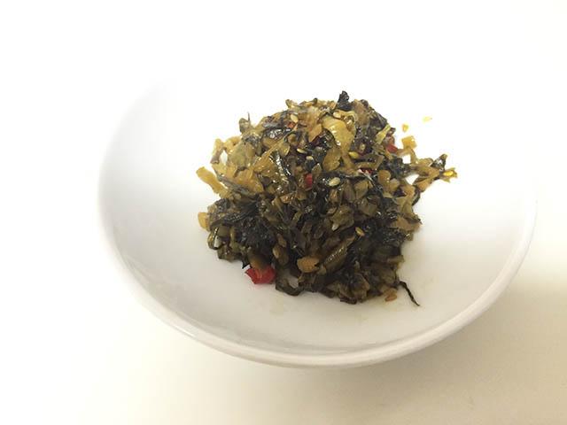 調理 高菜の油炒め6
