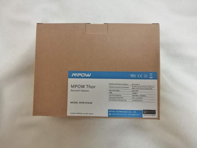 MPOW Thor Bluetooth ヘッドフォン 箱
