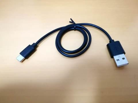 セリア USB Type-Cケーブル 黒&白 4