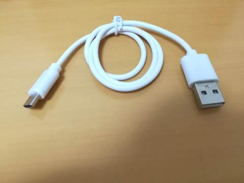 セリア USB Type-Cケーブル 黒&白 5