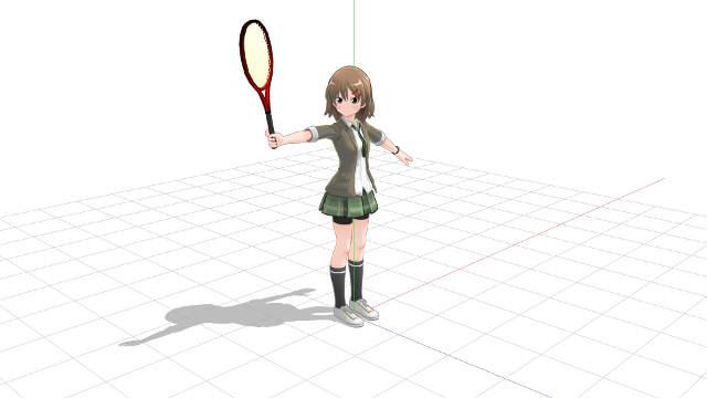 プロネーションでラケットヘッドを動かすには前腕とラケットに角度が必要1