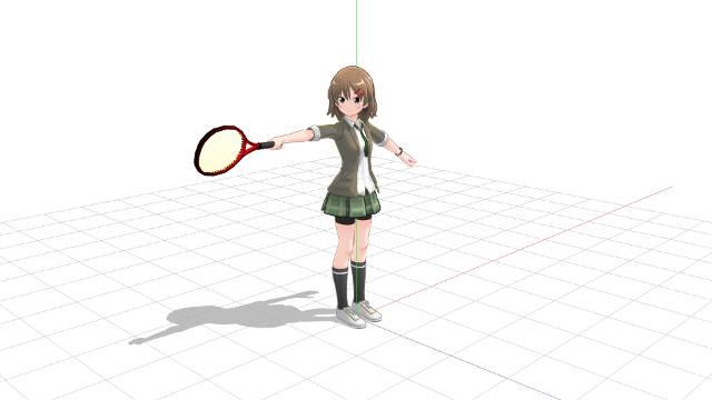 プロネーションでラケットヘッドを動かすには前腕とラケットに角度が必要3