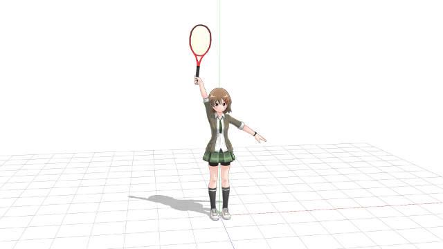 テニス サーブ 腕をまっすぐのばしたインパクト