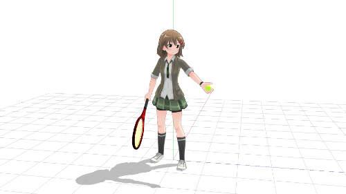 サーブ トス 手の平上向き ボールの握り方1