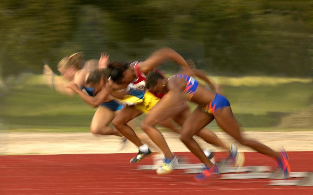 陸上短距離選手の走り方は皆共通する