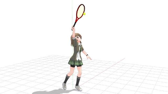 腕よりも体から遠い位置にあるラケット面でボールに触る