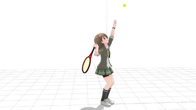肘を曲げた状態でラケットダウンを作る