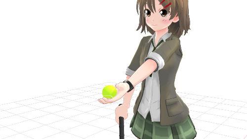 サーブ トス 手の平上向き ボールの握り方2