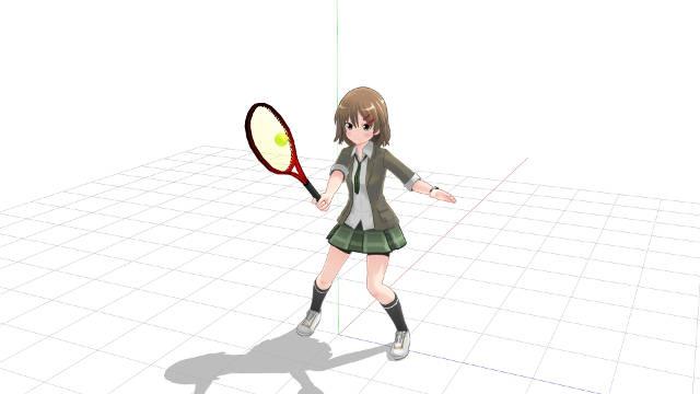 テニス ボレー ラケットヘッドを立てる