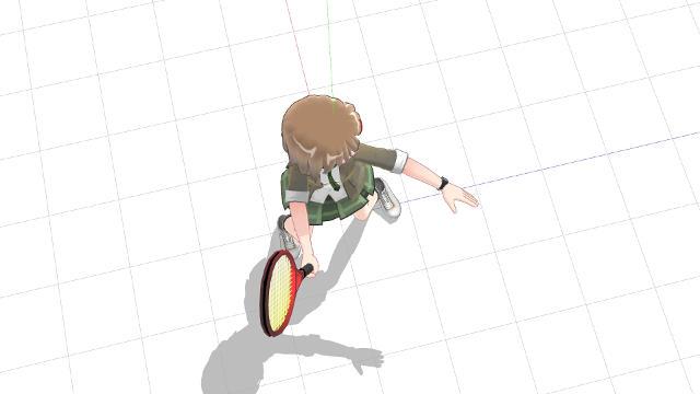スタンス含め体を横向きにしてフォアボレーを打つ2