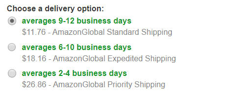 Amazon.comの3つの配送方法