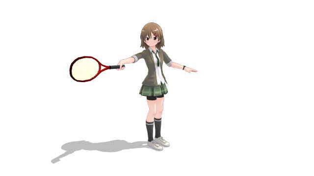 薄いグリップ 腕を体の真横に伸ばして打つとラケットを支えられない