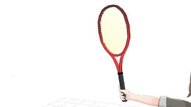 ラケットを握れば腕とラケットは自然と角度が付く