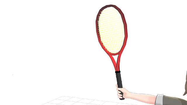 手首とラケットに自然な角度がある