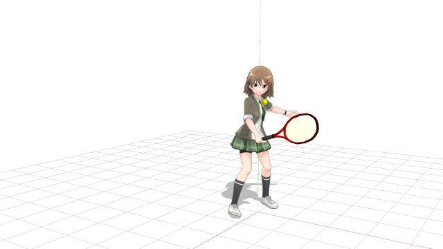 テニス バックハンド 当てるだけの返球