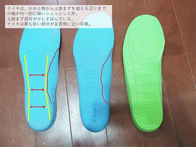 tennis shoes insole comparison 3