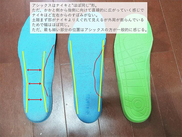 tennis shoes insole comparison 4