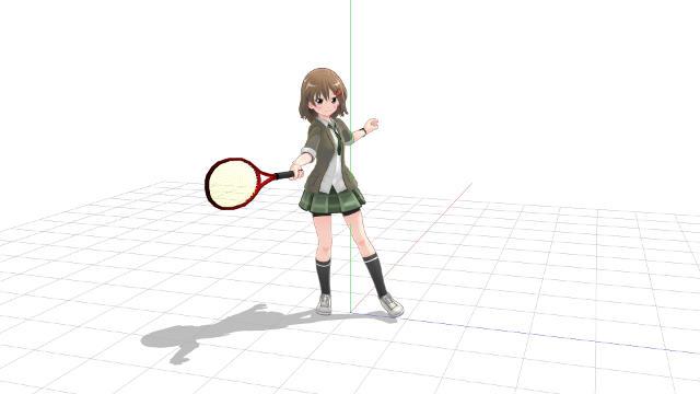 テニス 正面向きでフォアハンド2