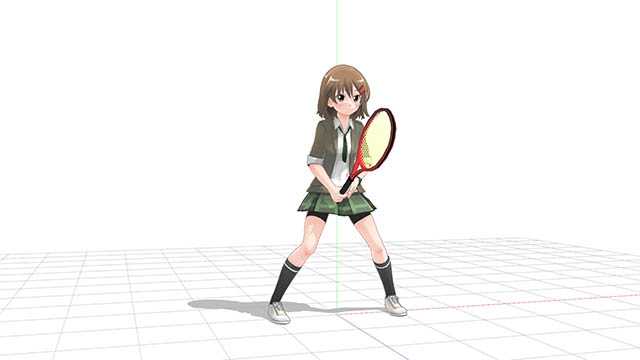 テニス 正面向きの構え