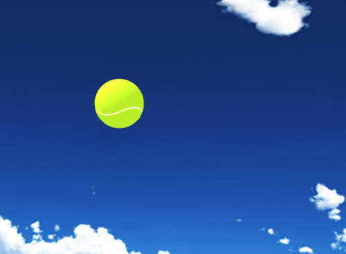 飛んでくるテニスボール