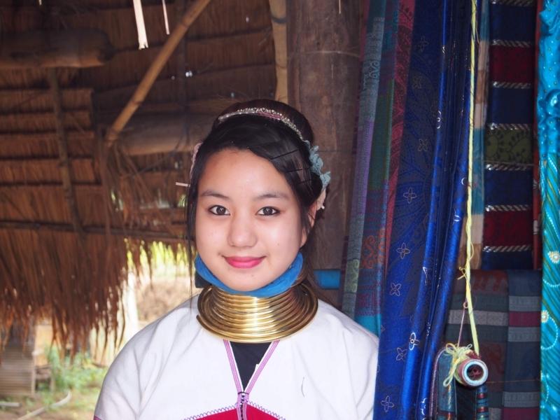 首長族の村にいた美しい女性