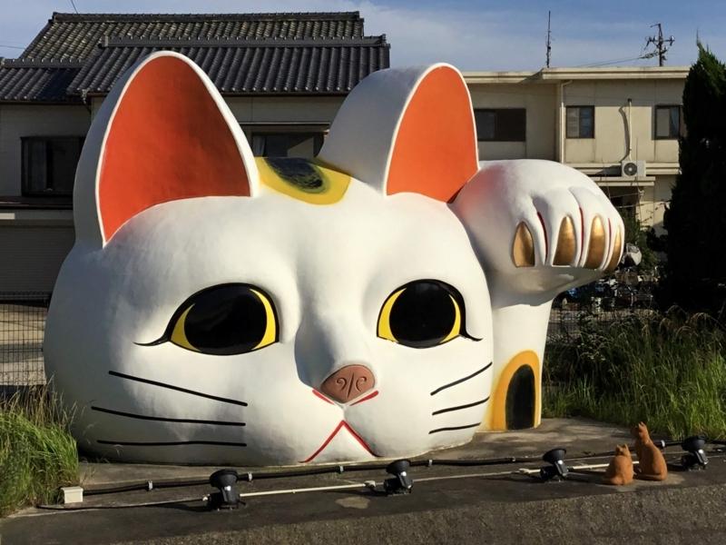 常滑市の巨大招き猫「とこにゃん」の正面