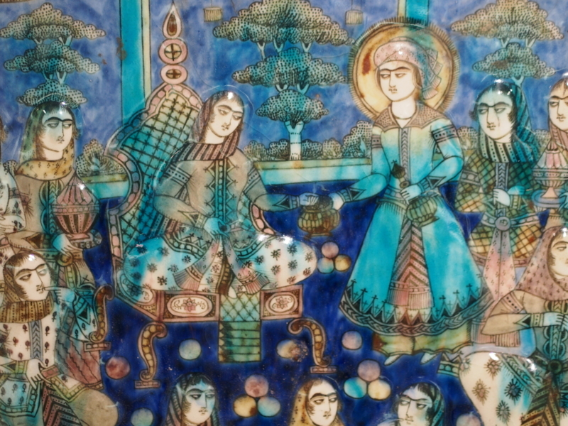 常滑市にあるINAXライブミュージアム内の世界のタイル博物館に展示されているイスラム圏のタイル