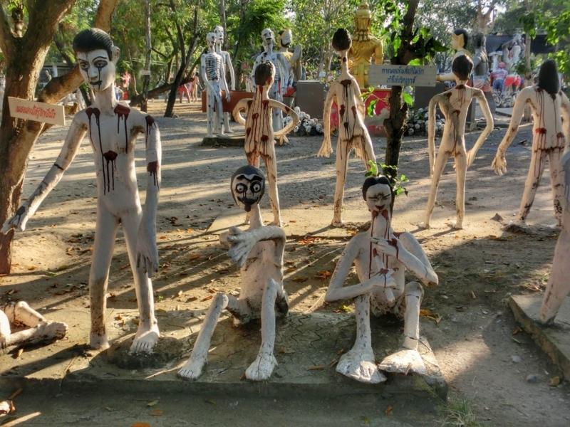 タイの地獄寺「ワット・パイ・ロン・ウア」に展示されている人形