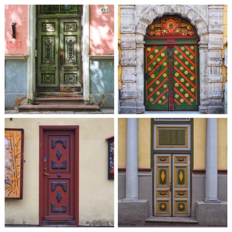 エストニアのタリン旧市街の美しいドア