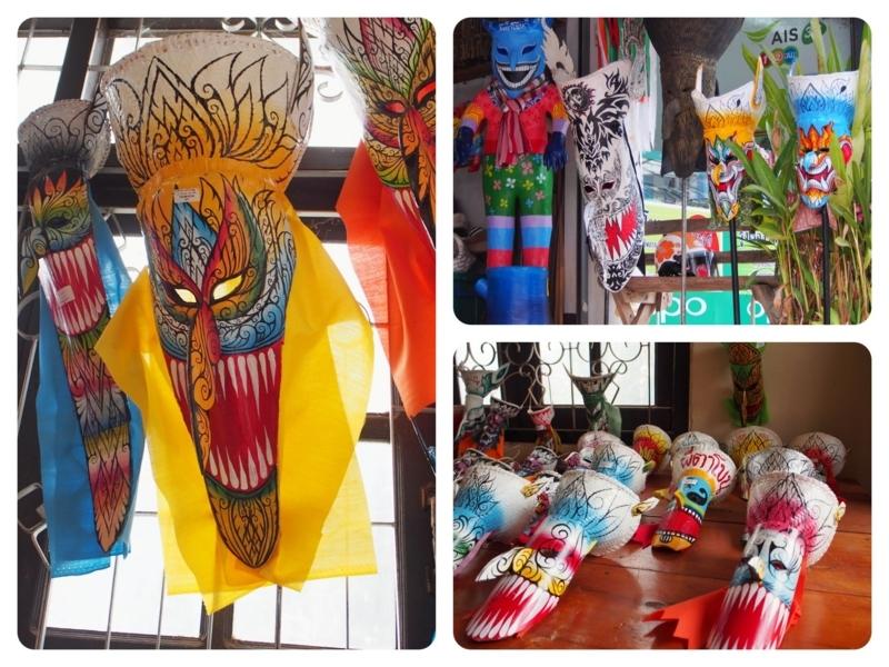 ダーンサーイの土産物屋で売っているピーターコーンの仮面